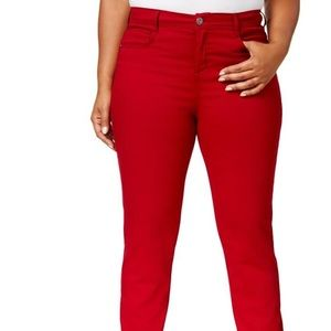 Style & Company | Tummy Control Denim Jeans Red